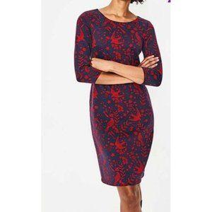 Boden Winifred Jacquard 3/4 Sleeve Shift Dress 10R